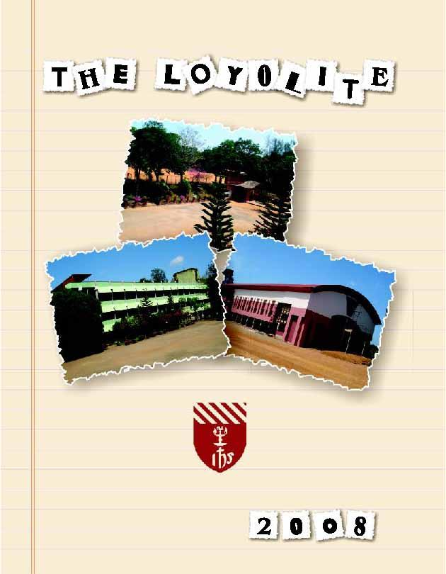 Cover of the 2008 school magazine of Loyola School