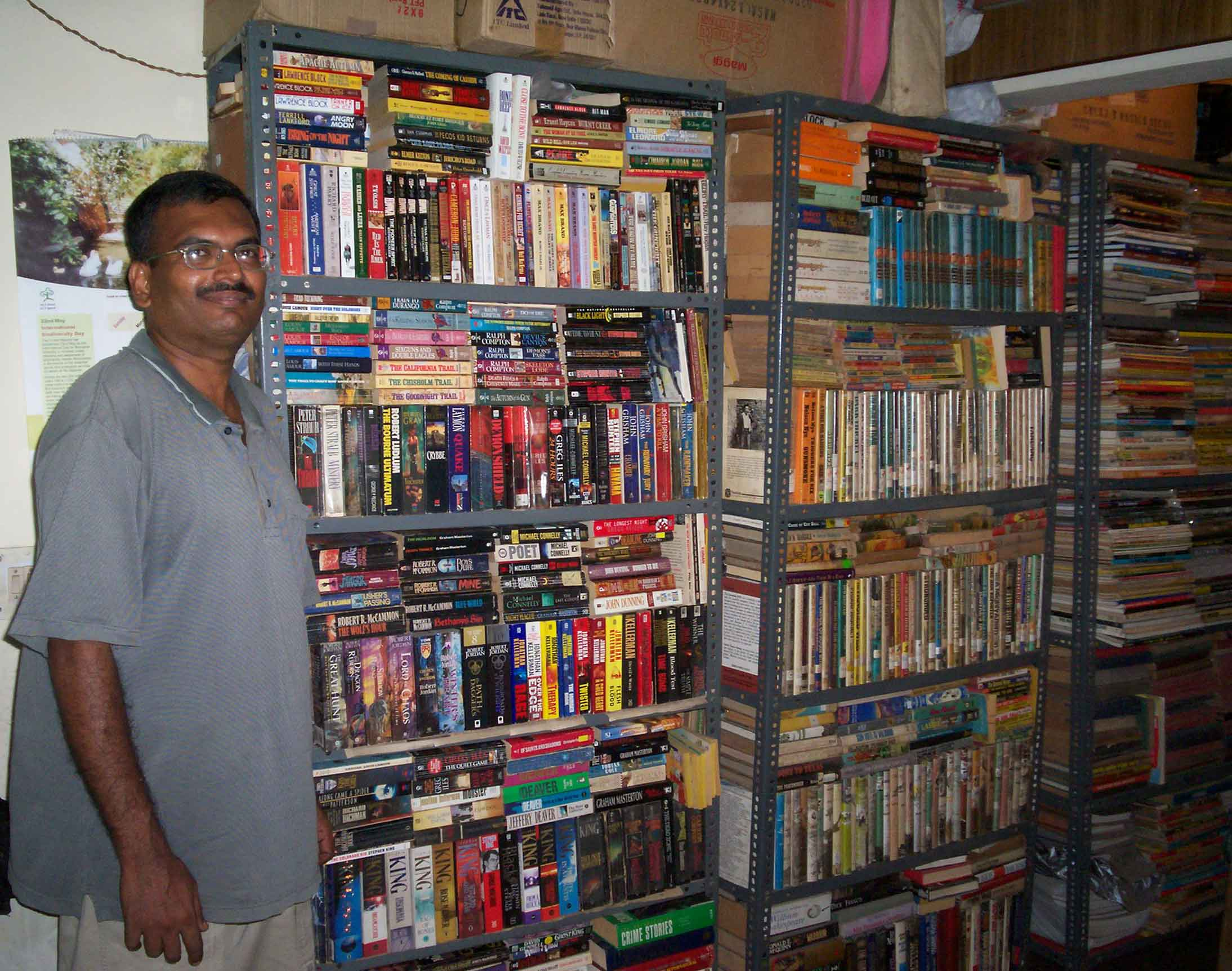 Vineeth with a part of his collection in Delhi