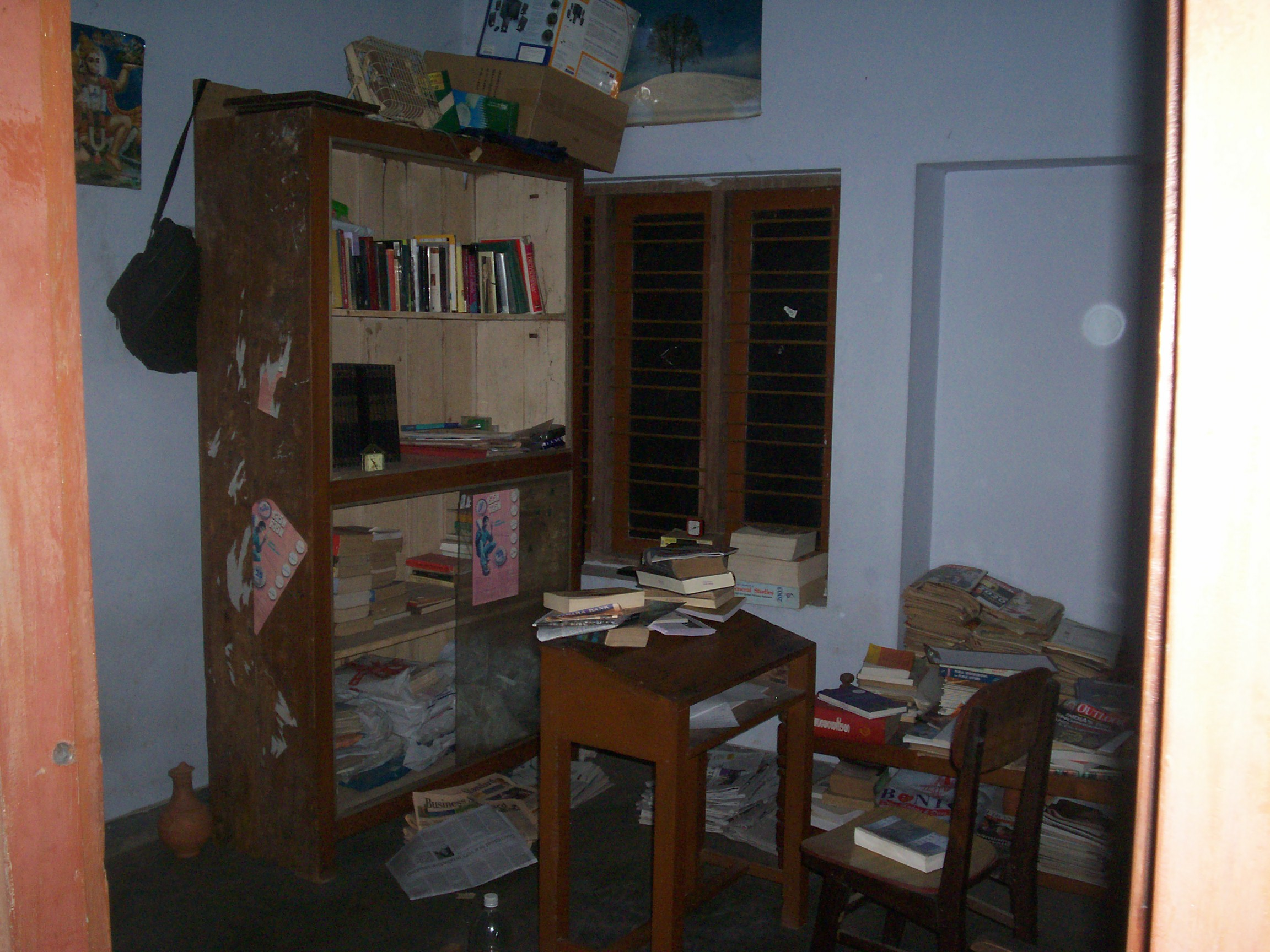 The room where Vyasan and I prepared for the civil services exam