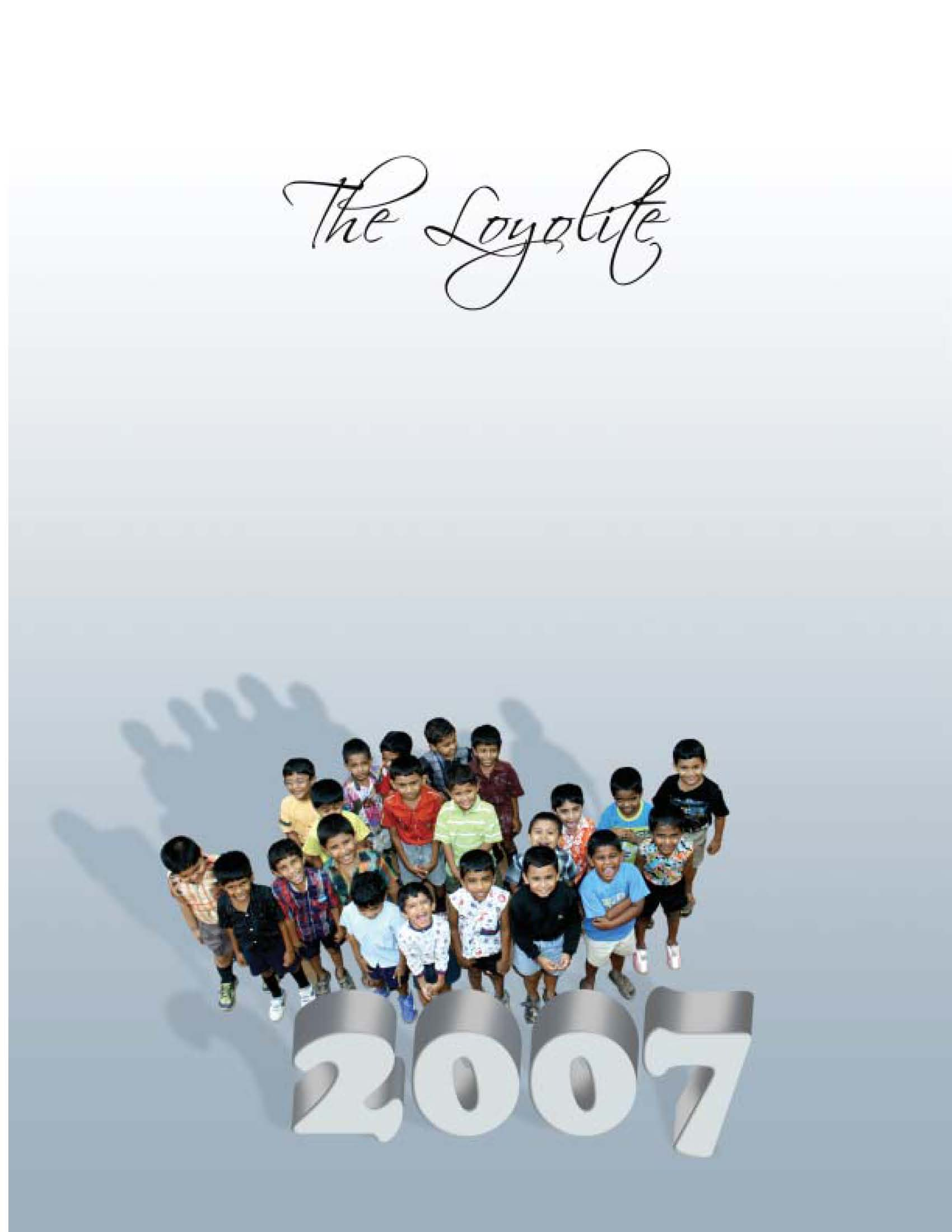 Loyola school magazine cover